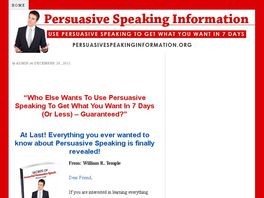 Go to: The Secrets Of Powerful Persuasive Speech