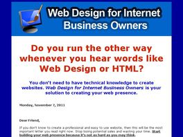 Go to: Web Design For Internet Business Owners