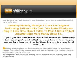 Go to: Wp Affiliate Pro - The #1 Plugin For Wordpres Blogs