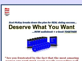 Go to: Deserve What You Want -- Scot Mckay, X & Y Communications