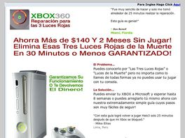 Go to: Xbox 360 3 Luces Rojas (Red Light Fix - Spanish