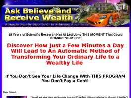 Go to: Ask Believe and Receive Wealth - Law of Attraction