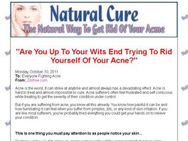 Go to: Get Rid Of Your Acne Naturally